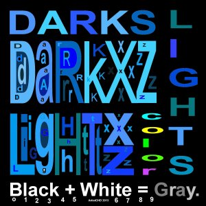 Darkxz - Lightxz - Grayxz - Color codes neg image