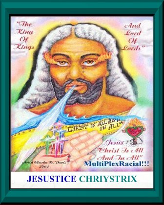 Jesustice Chriystrice - Jesus Christ_aqua frame 1500
